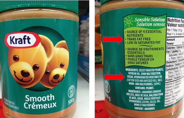 kraft peanut butter label