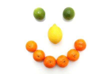 citrus fruits smiley face